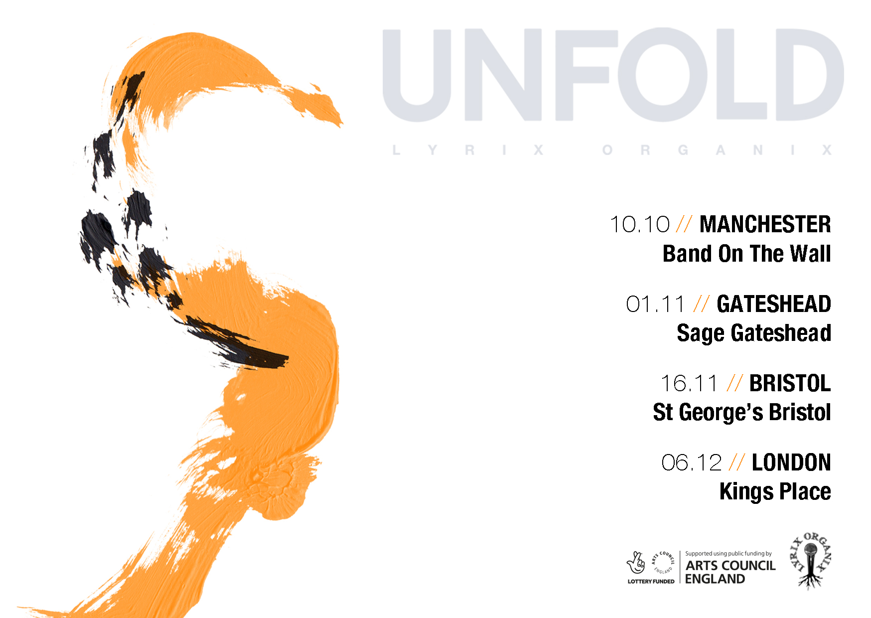UnFOLD - Tour Flyer for Print (A6)
