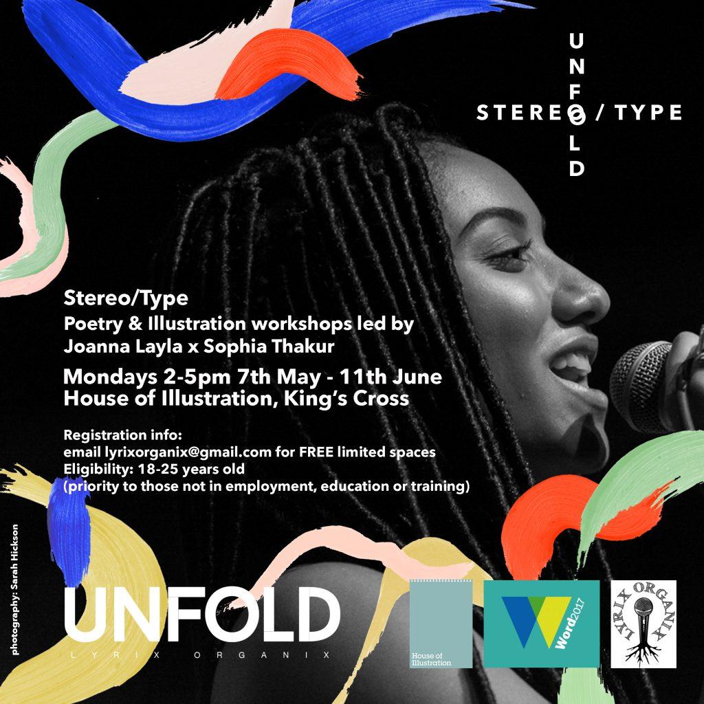 Lyrix Organix poetry & illustration - free course - flyer