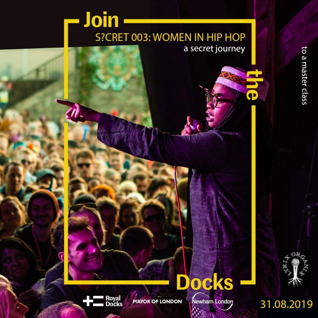 Lyrix Secret 003 - Women In Hip Hop - Royal Docks - FLYER (final)